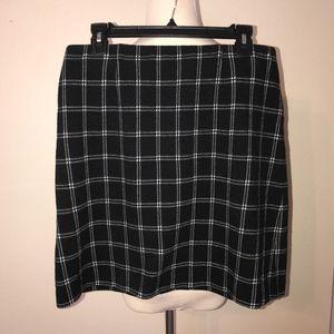 J. Jill Black Plaid Mini Skirt
